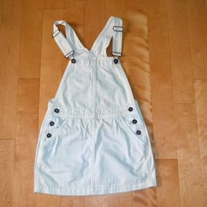 Free People You $ Me Denim Jumper Overall Dress
